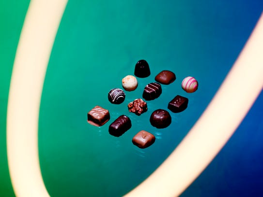 A selection of Knoxville Chocolate Co. craft chocolates