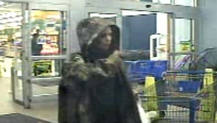This woman is one of two suspects whom Smyrna Police believe passed fake $50 dollar bills at the Wal-Mart.