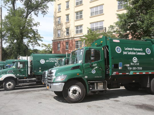Larchmont-Mamaroneck Joint Sanitation Commission trucks