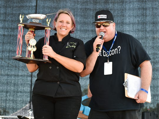 Sage Catering took the first place trophy for Best of Bacon during the annual BaconFest.
