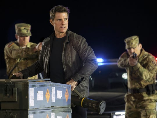 "Tom Cruise appears in a scene from, ""Jack Reacher: Never Go Back."""