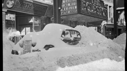 There was a lot of snow to dig out in Jamaica Plain after this storm that hit around 1939. To learn more about the history of this neighborhood, visit the Jamaica Plain Historical Society at www.jphs.org.