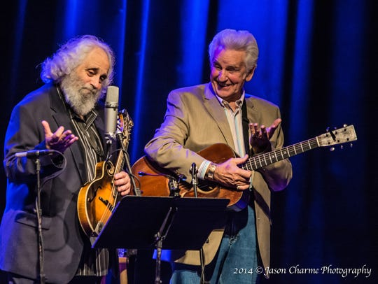 Dave Grisman and Del McCoury, aka Del & Dawg, perform