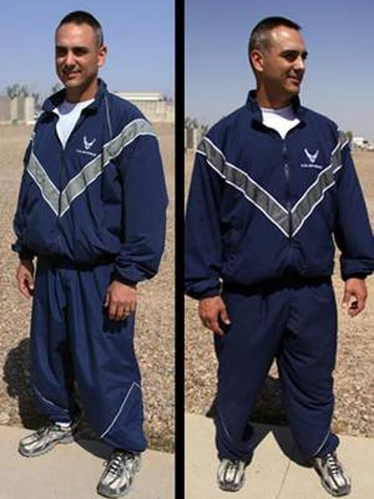 Air Force warmup gear