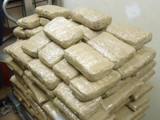 Officers seized 200 pounds of marijuana worth more than $100,000.