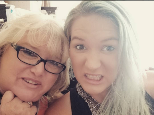 Megan Lowder on left and her mother Angie Gallacher,