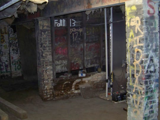 The basement of Delta Tau Delta's fraternity house. There was two unfounded reports of hazing in which pledges were forced to fight in the basement.