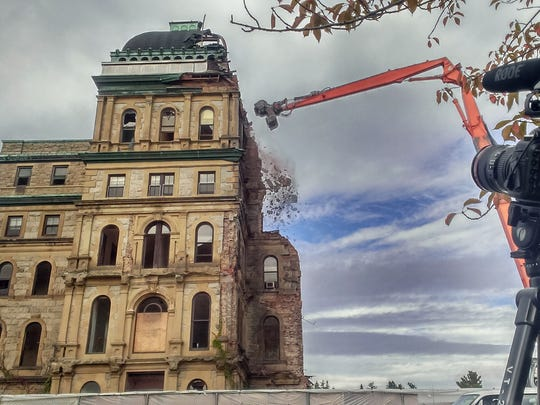 Cameras record the demolition of Greystone Park Psychiatric