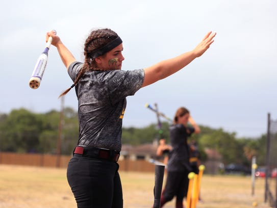 Tuloso-Midway softball player April Paschal participates
