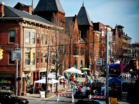 Go Green in the City, a street fair promoting healthy,