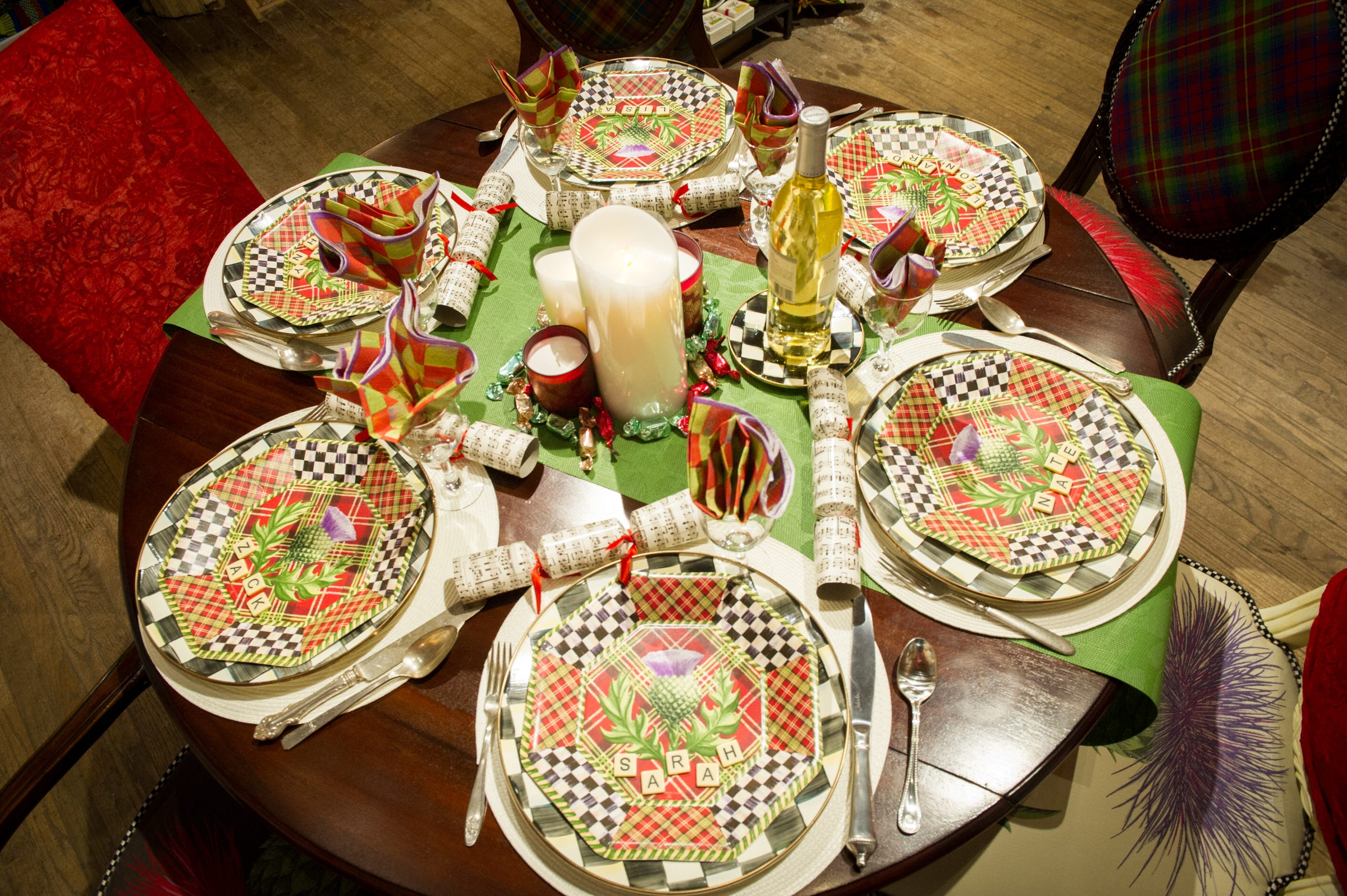 It\u0027s okay to use paper plates to stay within your budget. Just place a colorful runner on the table and set a charger plate (or platter) under each dinner ... & A beautiful holiday table doesn\u0027t have to be expensive