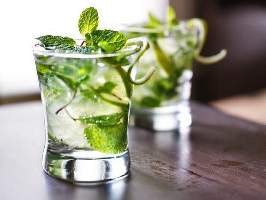 Mojito cocktails.