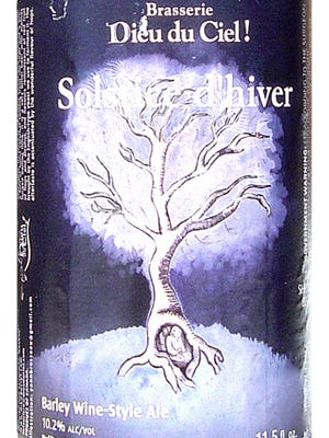 Solstice d'hiver from Brasserie Dieu du Ciel in St-Jerome, Quebec, Canada, is 10.2% ABV.