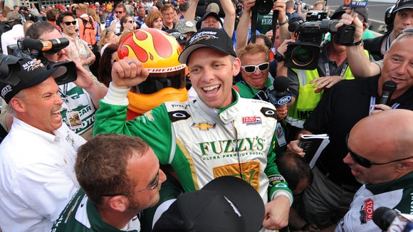 Owner/driver Ed Carpenter won the pole for the 2013 Indianapolis 500.