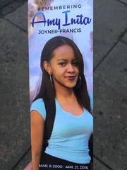 Amy Inita Joyner-Francis, 16, died in an assault in a bathroom at Howard High School in Wilmington in April. A Family Court judge on Tuesday scheduled the non-jury trial for April 3.