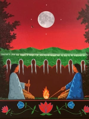 Artwork depicts the actual Fire Keepers at the Battle Creek Casino Hotel.