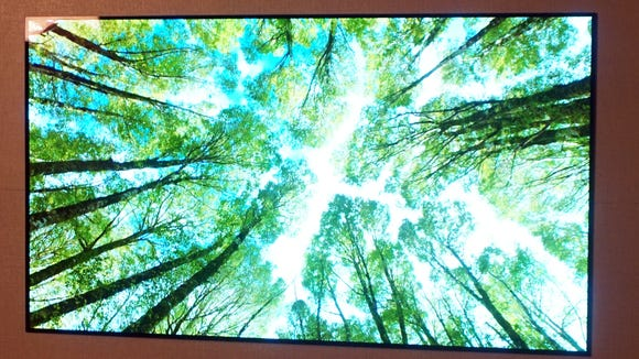 The LG W7 series delivers the same fathomless contrast and good color fidelity as past OLED TVs, albeit from a wall-mounted design position that's unprecedented,