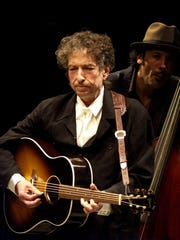 2001: Bob Dylan and bassist Tony Garnier at the Iowa State Fair Grandstand.