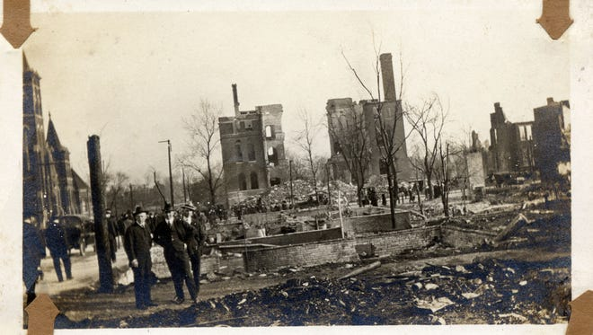 Warner School at the southwest corner of Seventh and Russell streets had a tower that had to be dynamited because of the danger of it falling after the East Nashville fire on March 22, 1916