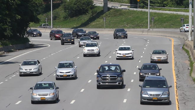 Traffic heads east on Interstate 490 near Alexander Street in Rochester. Anytime you are on the road, there's a chance the license plate on your vehicle could be photographed and saved in a police database.