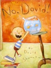 """No David"" by David Shannon, an acrylic."