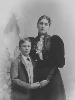 """As seen in """"The Roosevelts: An Intimate History,"""" Franklin with his mother, Sara Delano Roosevelt, 1893."""