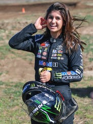 """""""I still have my girly side,"""" Hailie Deegan says. """"But"""