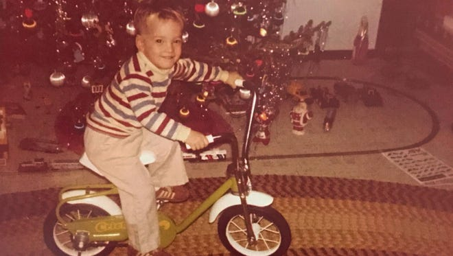 Daddy Duty columnist Tim Walters seen on Christmas Day 1980, 12 days before his fourth birthday.