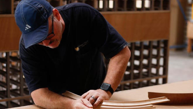 Dan Noel is the shop manager at Wine Cellar Experts. Each wine cellar is customized to the customer's needs.