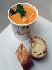 Seafood Bisque is a lunch special at Fish Dock on Closter
