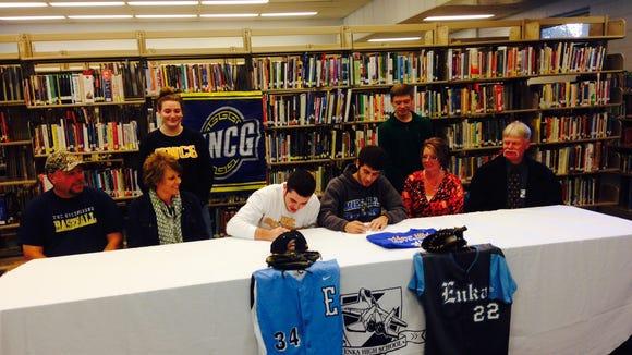 Enka senior Matt Frisbee signed to play college baseball for UNC Greensboro in November.