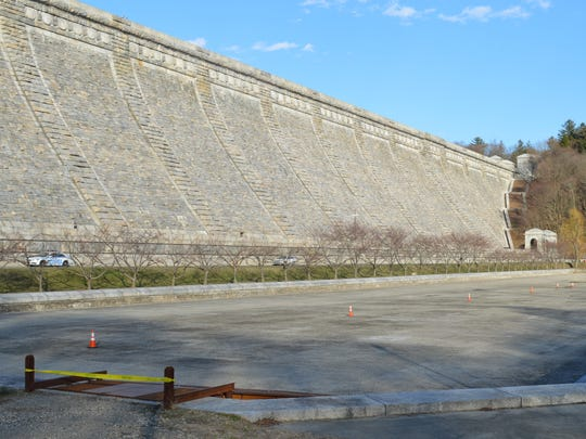 Rob Astorino's ice skating complex would be located in the drained reflecting pool at the base of Kensico Dam.