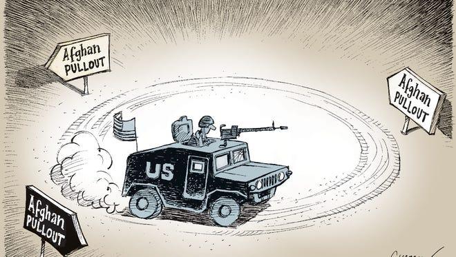 Patrick Chappatte, The International New York Times, drew this Desert Sun editorial cartoon for Oct. 29, 2015.