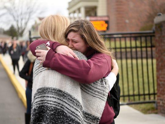 Dumont High School was placed under lockdown on Monday