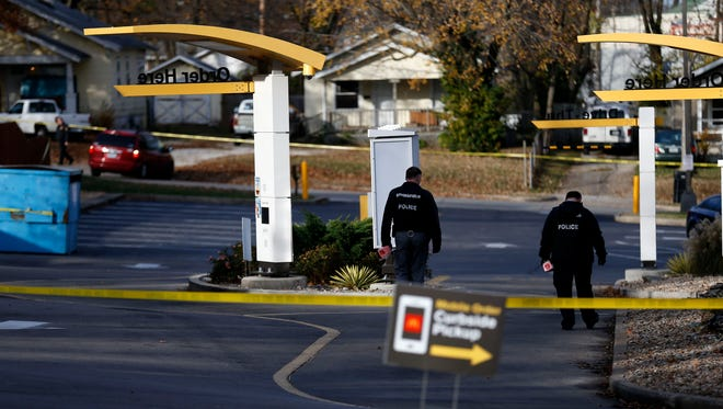 Springfield Police investigate the scene of a homicide at a McDonald's on West Kearney Street on Tuesday, Nov. 21, 2017.