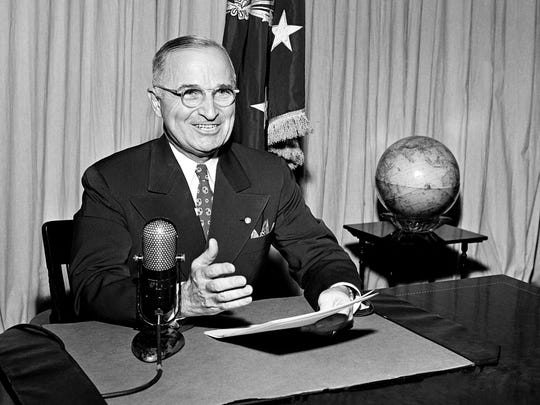 Former president Harry Truman in 1945.