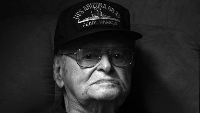 Raymond Haerry, one of the last survivors of the USS Arizona attack, seen in 2014. He died in September 2016 at age 94.
