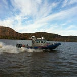 Westchester County police rescued two men from the Hudson River Wednesday.