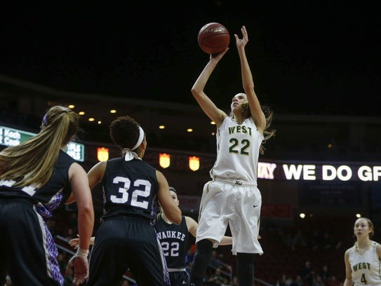 Iowa City West's Logan Cook helped her team get to