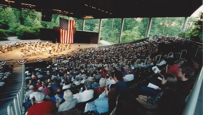 Evansville Philharmonic Orchestra performing at Lincoln Amphitheatre during a past performance.