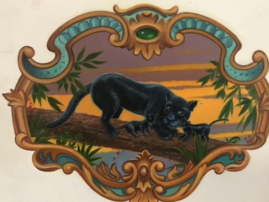This panel of a panther by David Kirk was a finalist