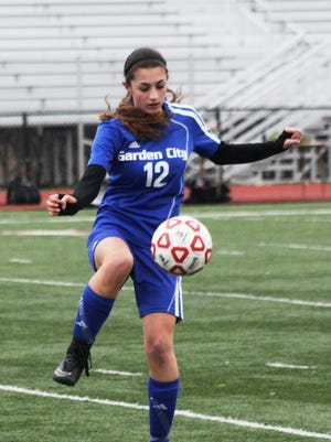 Garden City's Samantha Sultana scored a goal during Monday's victory over Franklin.