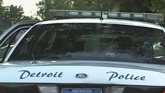 Detroit Police car.  Photo taken on Tuesday, July 30, 2013.BRIAN KAUFMAN/Detroit Free Press
