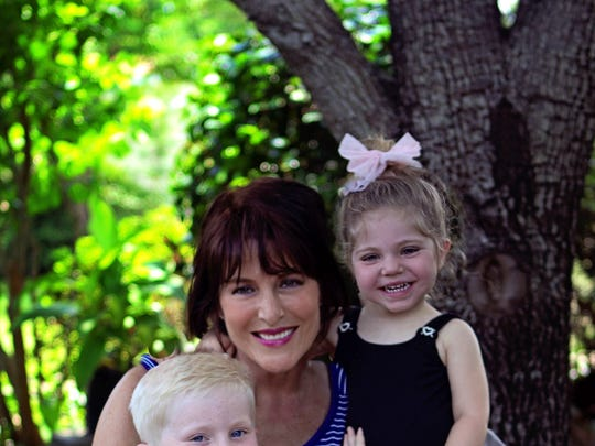 Lisa Lowery relishes time with her grandchildren Jax and Gemma.