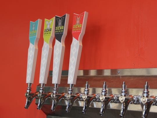 The taps at Xicha Brewing, which is set to open in