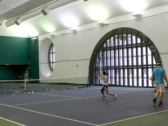 The Vanderbilt Tennis Club consists of a full court (pictured), a half court and a small gym and is open to the public.