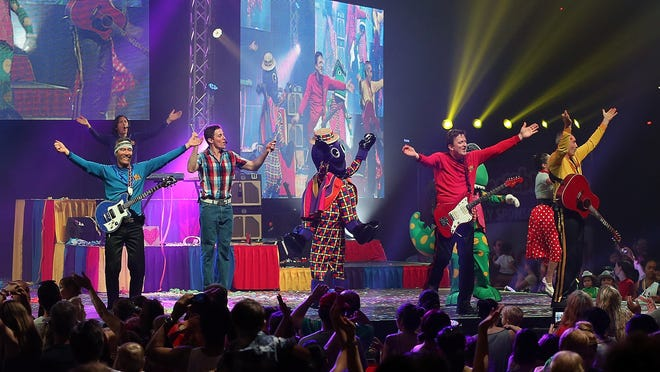The Wiggles perform in 2012.