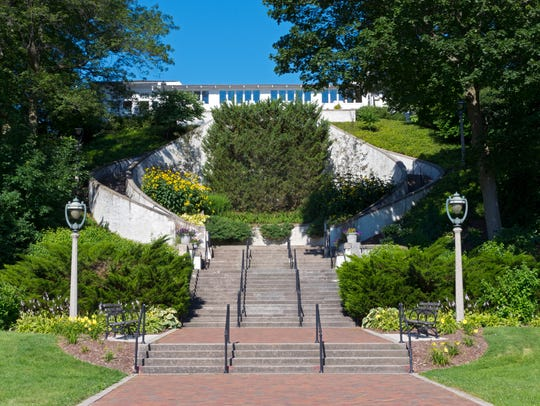 The Grand Staircase is an example of Lake Park's romantic