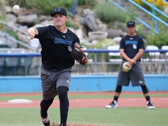 Hudson Valley Renegades' pitcher, Paul Campbell during