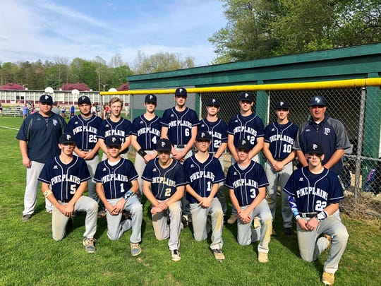 The Pine Plains baseball team poses after a win over